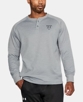 Men's UA Baseball Training Henley  1  Color Available $35.99