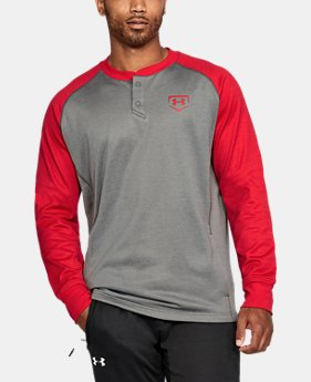 Men's UA Baseball Training Henley  3 Colors $59.99