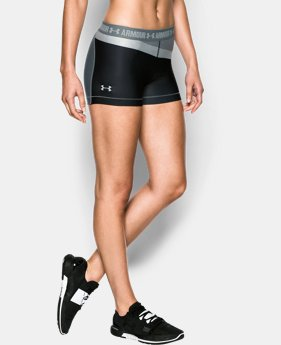 "New Arrival  Women's UA HeatGear® Armour 3"" Engineered Shorty LIMITED TIME: FREE SHIPPING 1 Color $39.99"