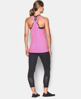 Women's UA Armour Stripe Racer Tank  1 Color $24.99