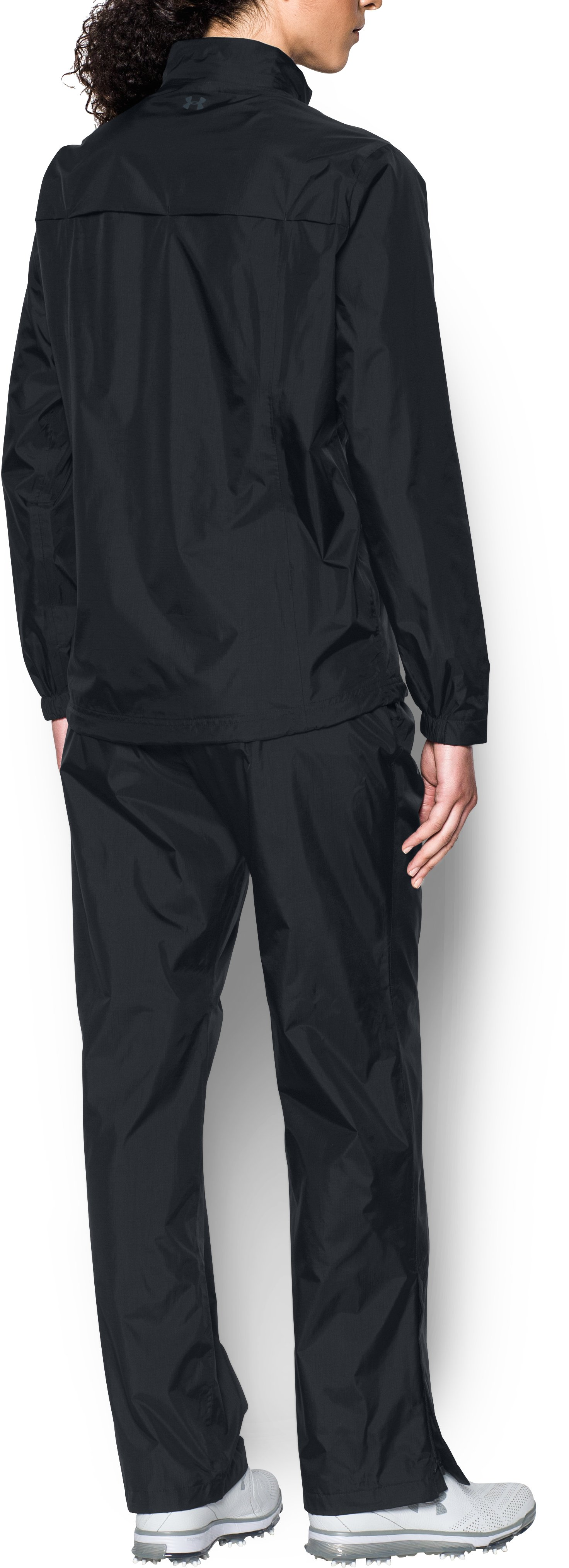 Women's UA Storm Rain Suit, Black , Back