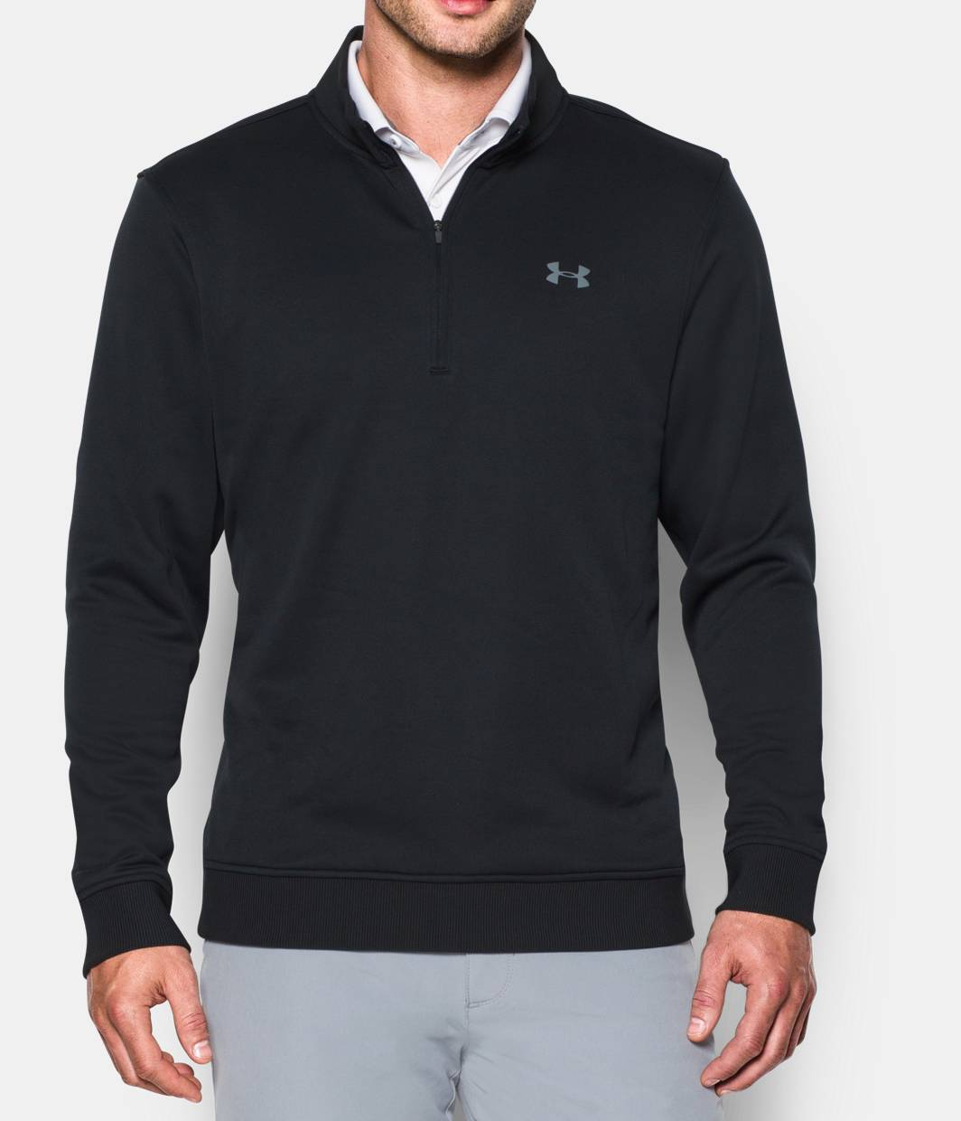 Black t shirt under button down - Best Seller Men S Ua Storm Sweaterfleece Zip 4 Colors 69 99