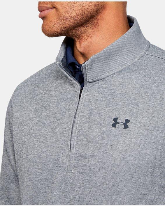 Men's UA Storm SweaterFleece ¼ Zip, Gray, pdpMainDesktop image number 9