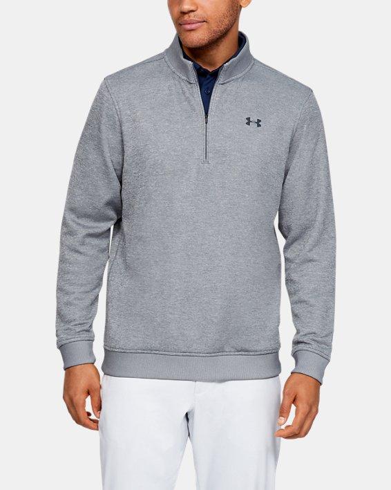 Men's UA Storm SweaterFleece ¼ Zip, Gray, pdpMainDesktop image number 0