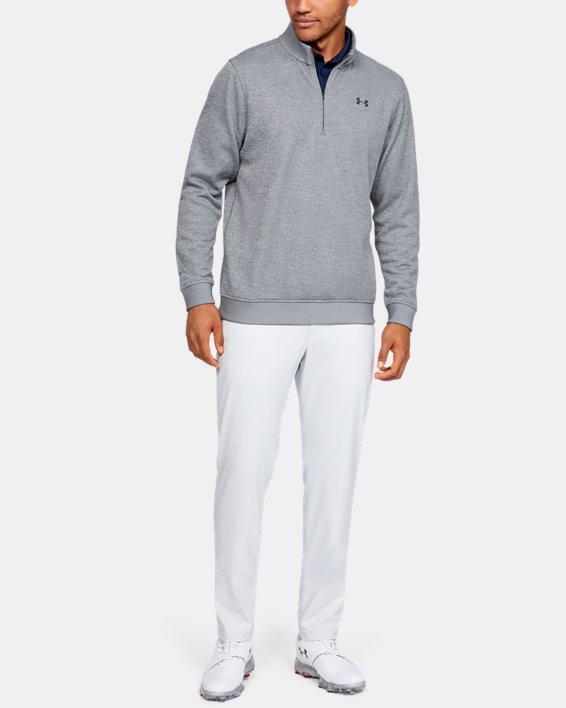 Men's UA Storm SweaterFleece ¼ Zip, Gray, pdpMainDesktop image number 3