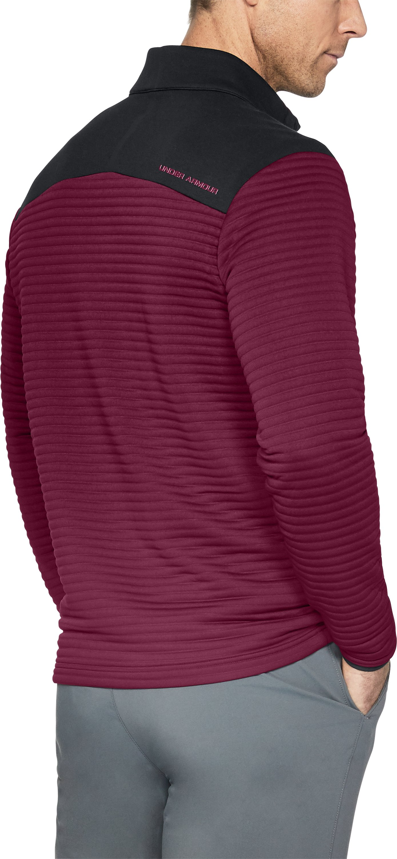 Men's UA Tips Daytona ¼ Zip, BLACK CURRANT, undefined