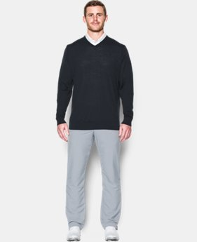 Men's UA Tips V-Neck Sweater  1 Color $114.99