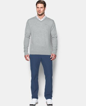 Men's UA Tips V-Neck Sweater  1 Color $56.24