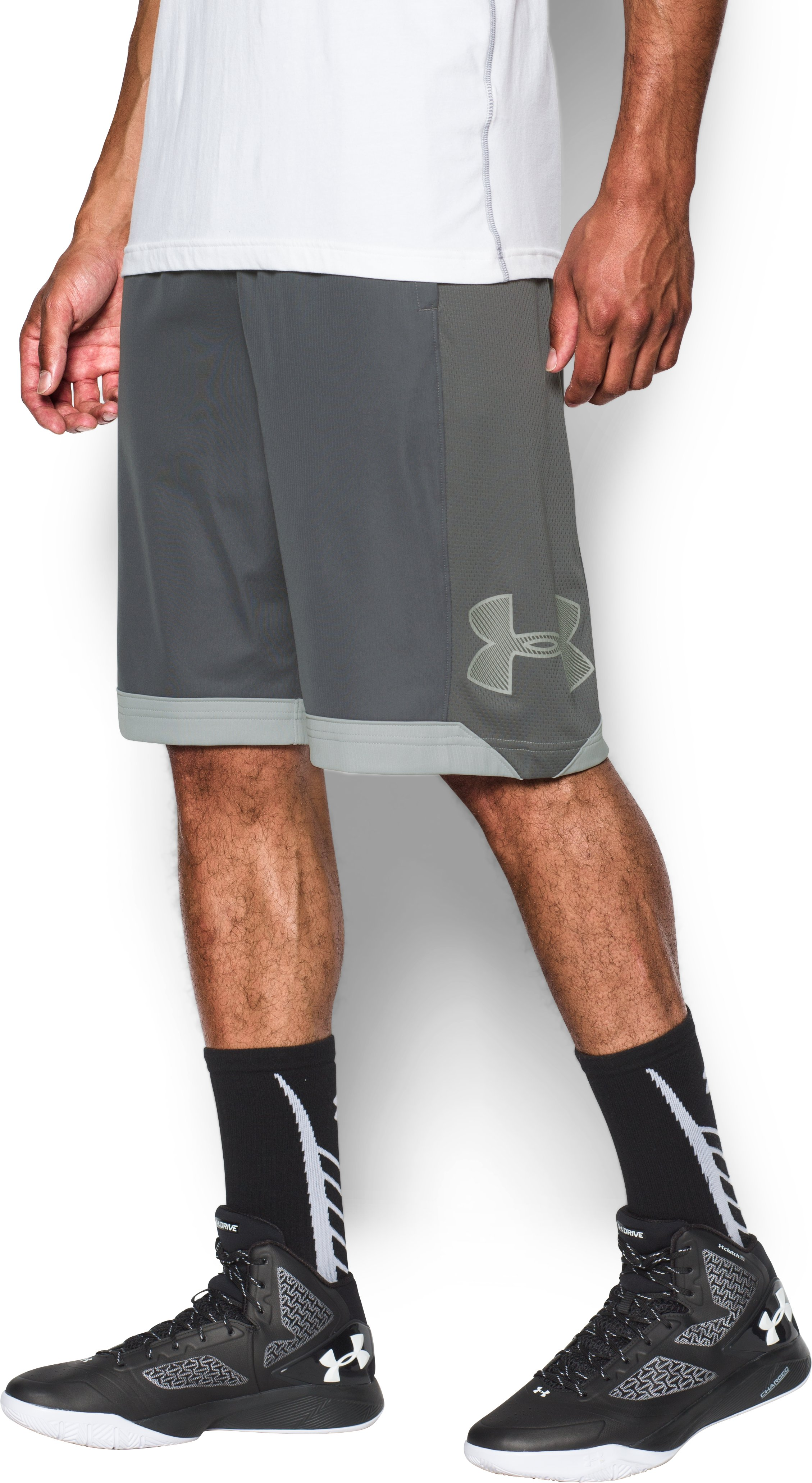 Men's UA Isolation Basketball Shorts, Graphite