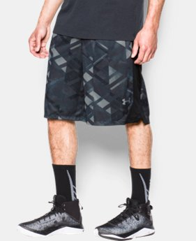 New Arrival Men's UA TriAngle O Printed Shorts  2 Colors $39.99