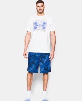 New Arrival Men's UA TriAngle O Printed Shorts  1 Color $39.99