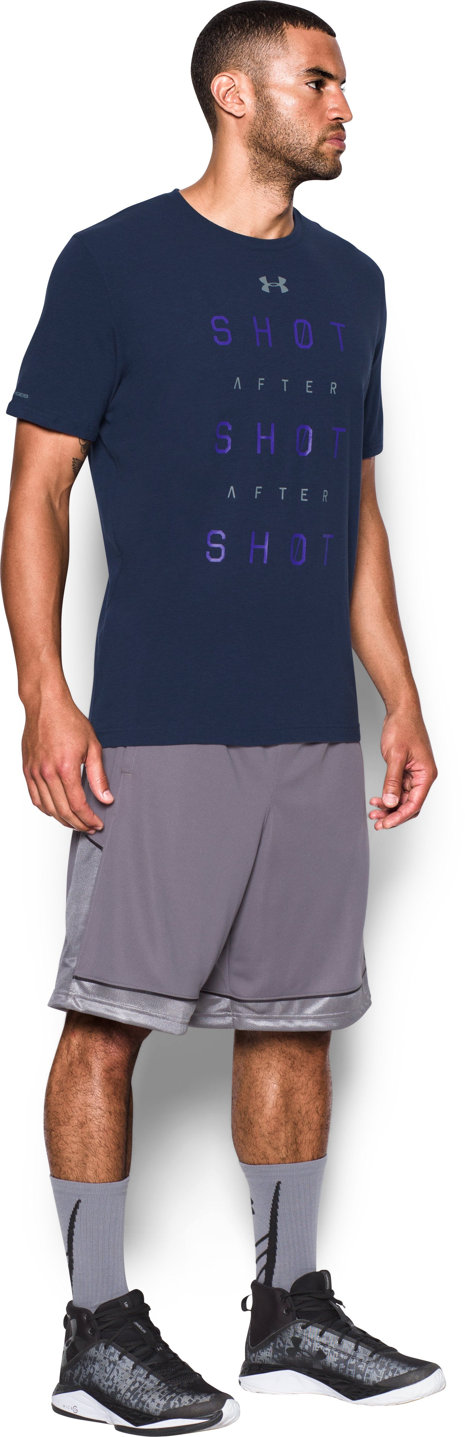 Men's UA Shot After Shot After Shot T-Shirt, Midnight Navy