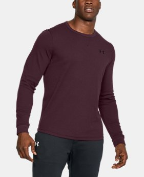 Best Seller Men's UA Waffle Crew  3 Colors $44.99