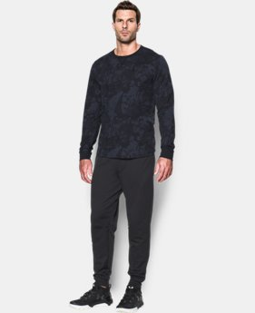 New Arrival  Men's UA Waffle Printed Crew  1 Color $49.99