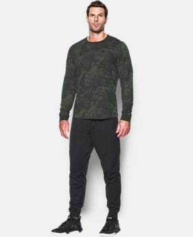 New Arrival  Men's UA Waffle Printed Crew LIMITED TIME: FREE SHIPPING 1 Color $49.99