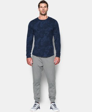 Men's UA Waffle Printed Crew LIMITED TIME OFFER + FREE U.S. SHIPPING 1 Color $29.99
