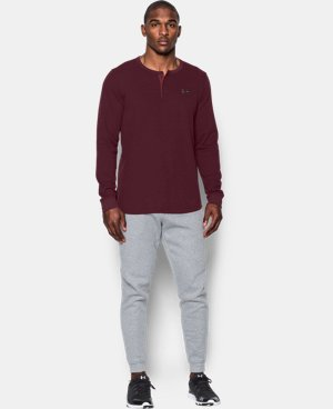 New Arrival Men's UA Waffle Henley  1 Color $49.99