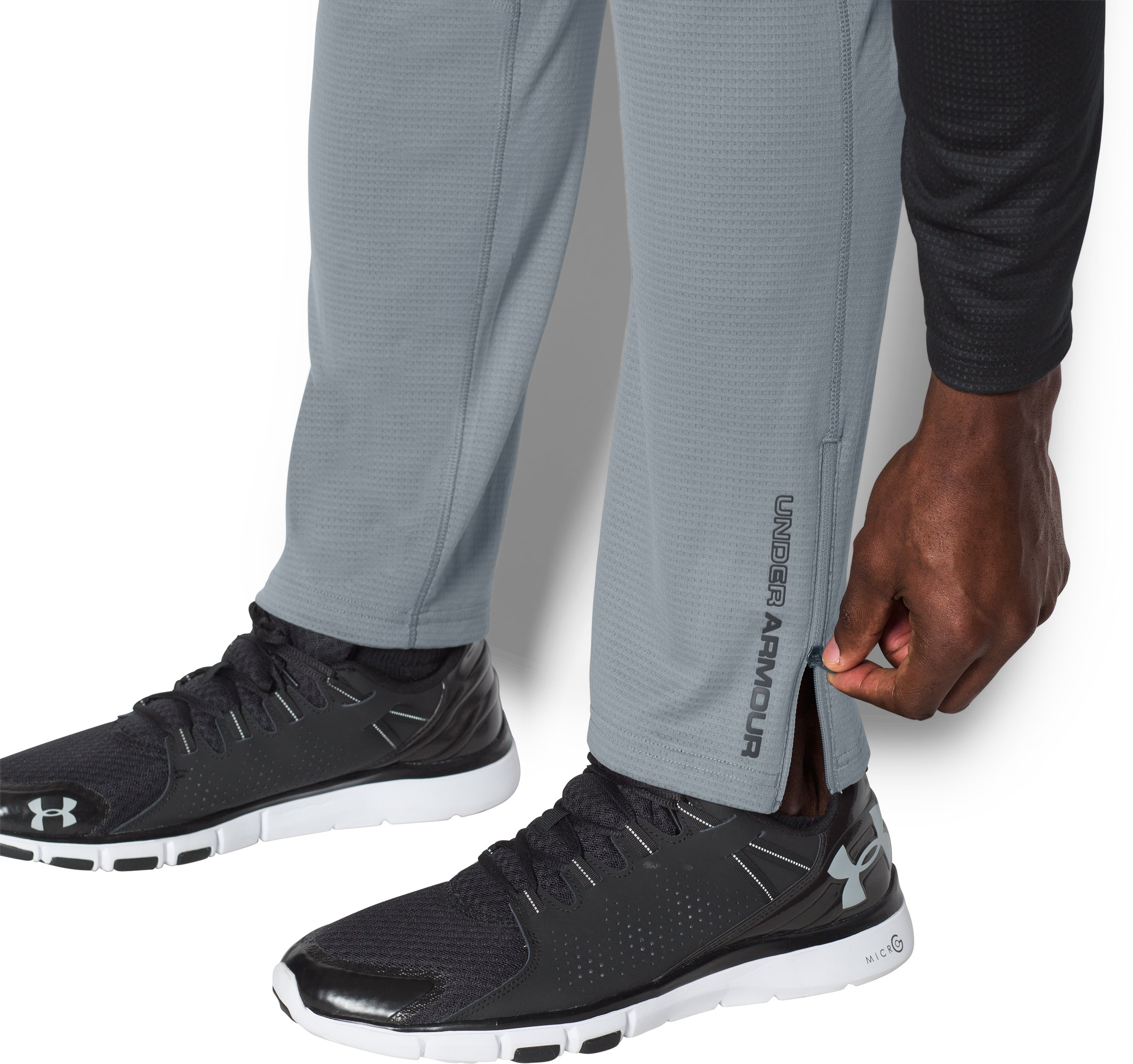 Men's UA ColdGear® Infrared Grid Pants, Steel