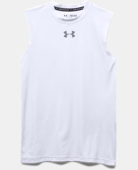 Boys' UA HeatGear® Armour Sleeveless T-Shirt