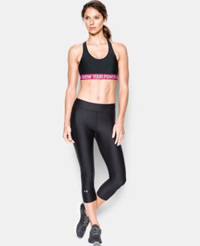 New Arrival  Women's UA Power In Pink® Armour Mid Sports Bra LIMITED TIME: FREE SHIPPING 1 Color $29.99