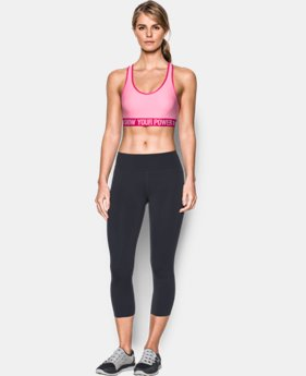 Women's UA Power In Pink® Armour Mid Sports Bra  2  Colors Available $20.99