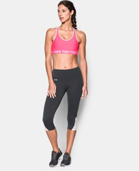 Women's UA Power In Pink® Armour Mid Sports Bra   $18.99