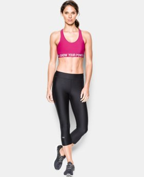 Women's UA Power In Pink® Armour Mid Sports Bra  2 Colors $24.99