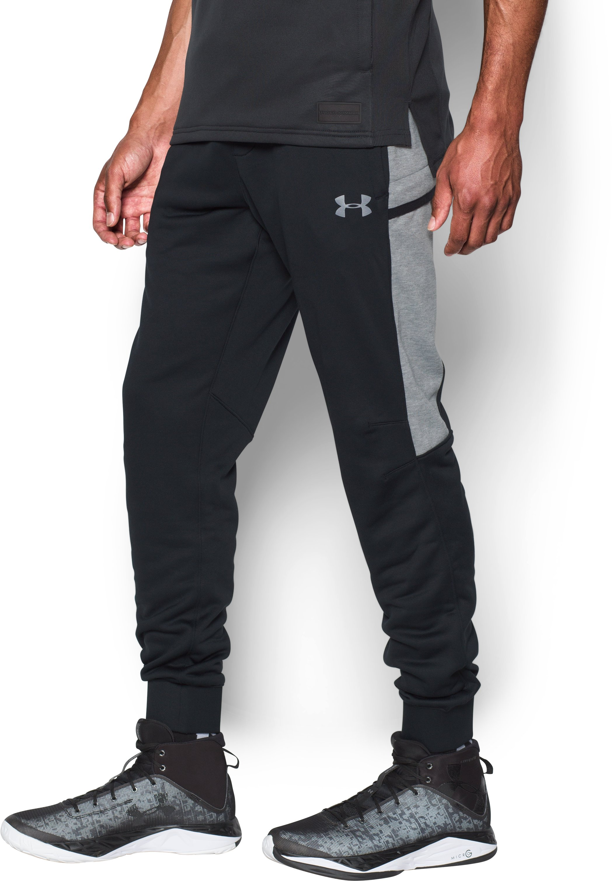 Men's UA Pursuit Cargo Pants, Black , undefined