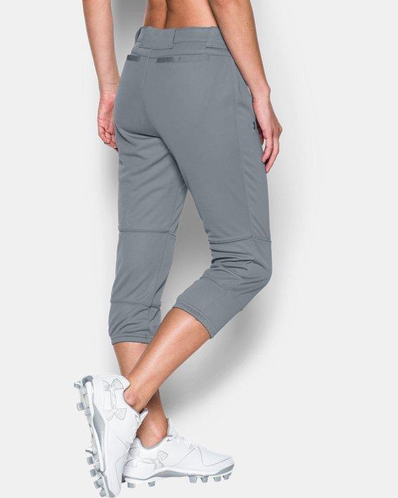 Women's UA Strike Zone Pants, Gray, pdpMainDesktop image number 1