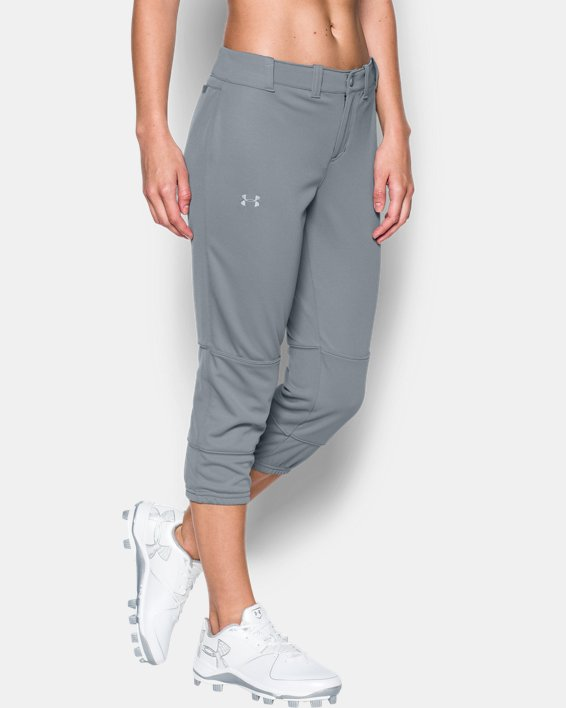 Women's UA Strike Zone Pants, Gray, pdpMainDesktop image number 0