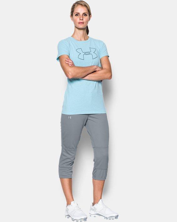Women's UA Strike Zone Pants, Gray, pdpMainDesktop image number 2