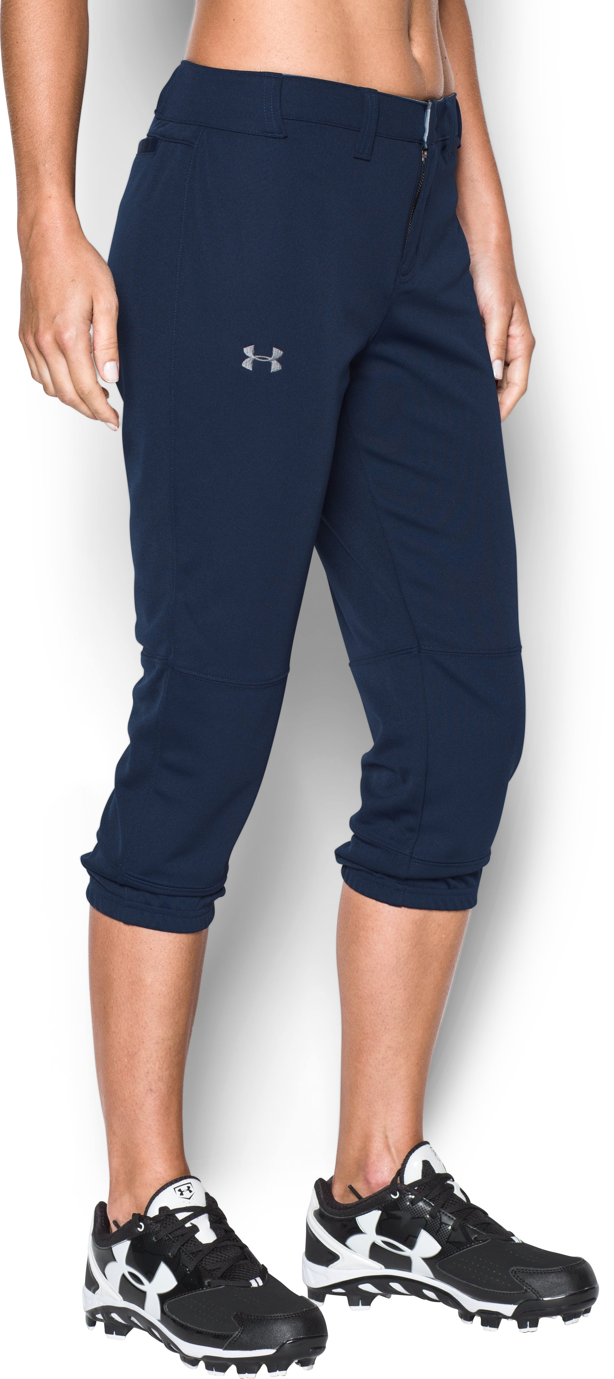Women's UA Strike Zone Pants, Midnight Navy