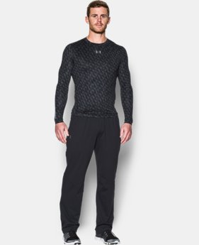 New Arrival Men's UA ColdGear® Armour Printed Compression Crew  1 Color $59.99