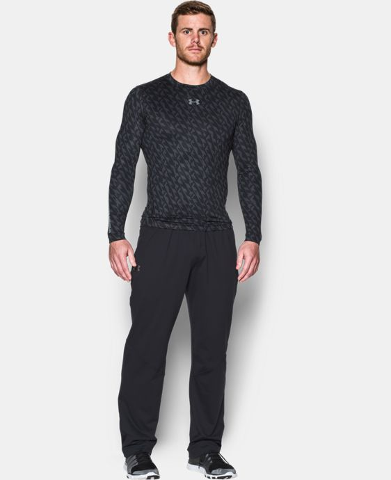 Men's UA ColdGear® Armour Printed Compression Crew  1 Color $52.99