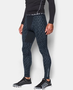 Men's UA ColdGear® Armour Printed Compression Leggings LIMITED TIME: UP TO 30% OFF 2 Colors $52.49