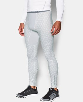 Men's UA ColdGear® Armour Printed Compression Leggings  2 Colors $52.99