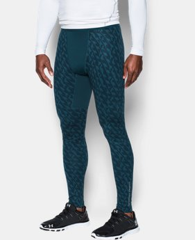 Men's UA ColdGear® Armour Printed Compression Leggings LIMITED TIME OFFER + FREE U.S. SHIPPING 1 Color $59.99