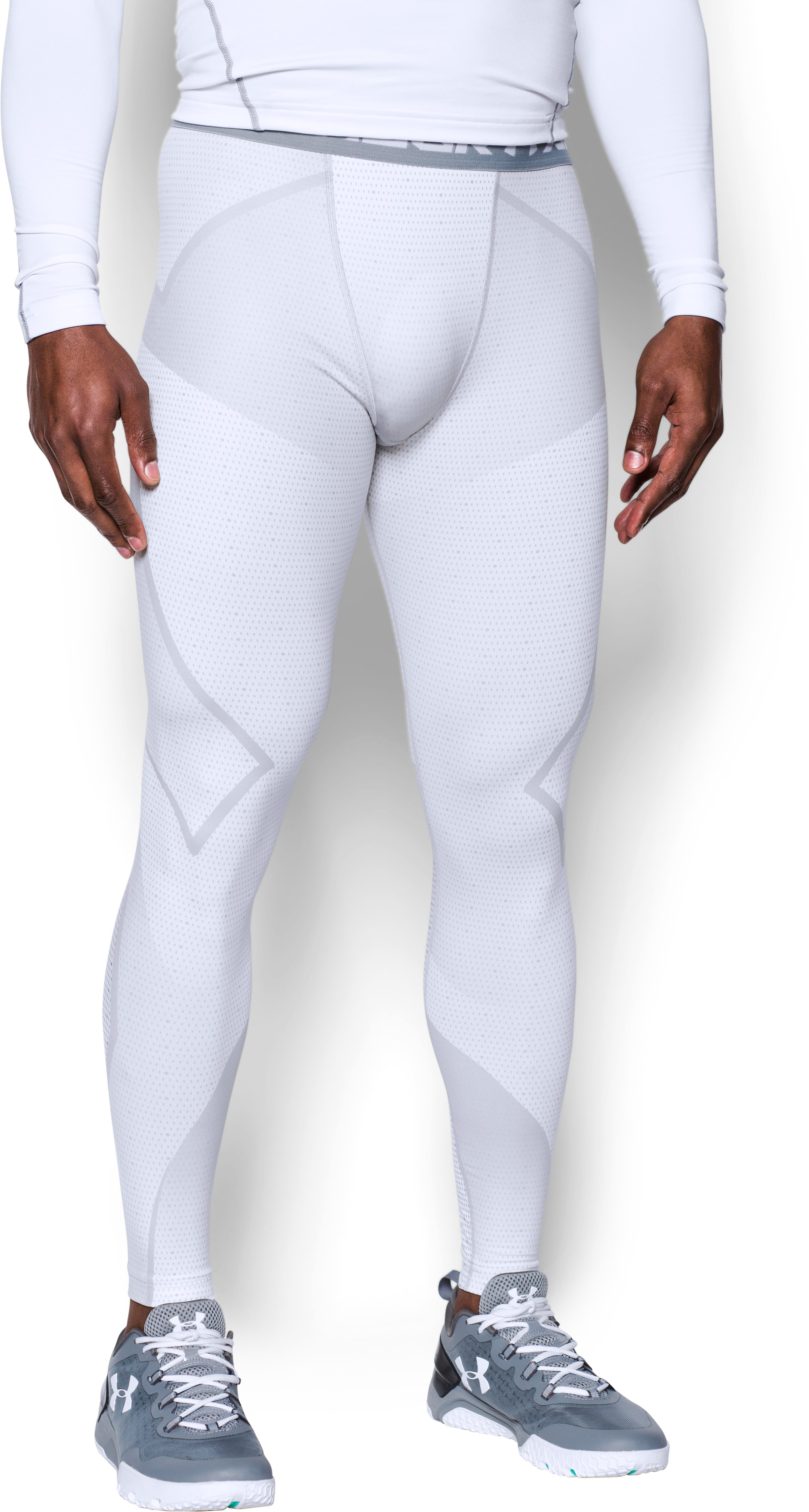 Men's ColdGear® Armour Sublimated Leggings, White