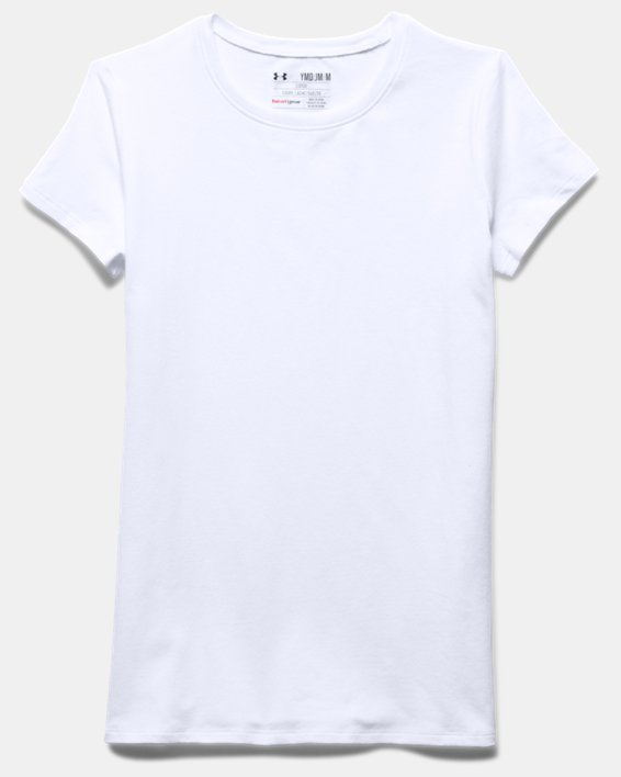 Girls' UA Charged Cotton® T-Shirt, White, pdpMainDesktop image number 2