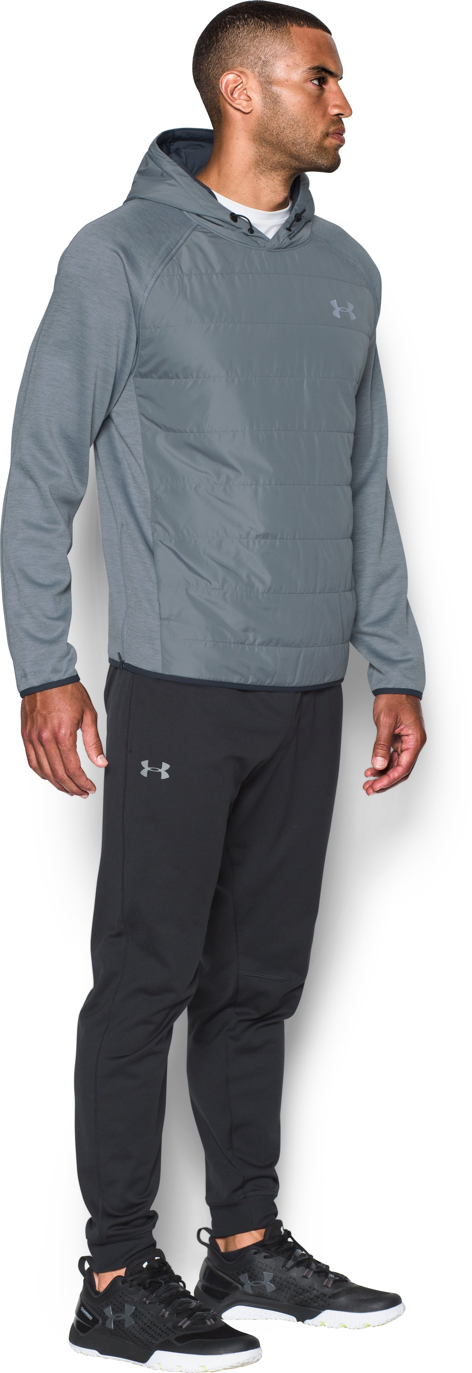 Men's UA Insulated Swacket, Steel,