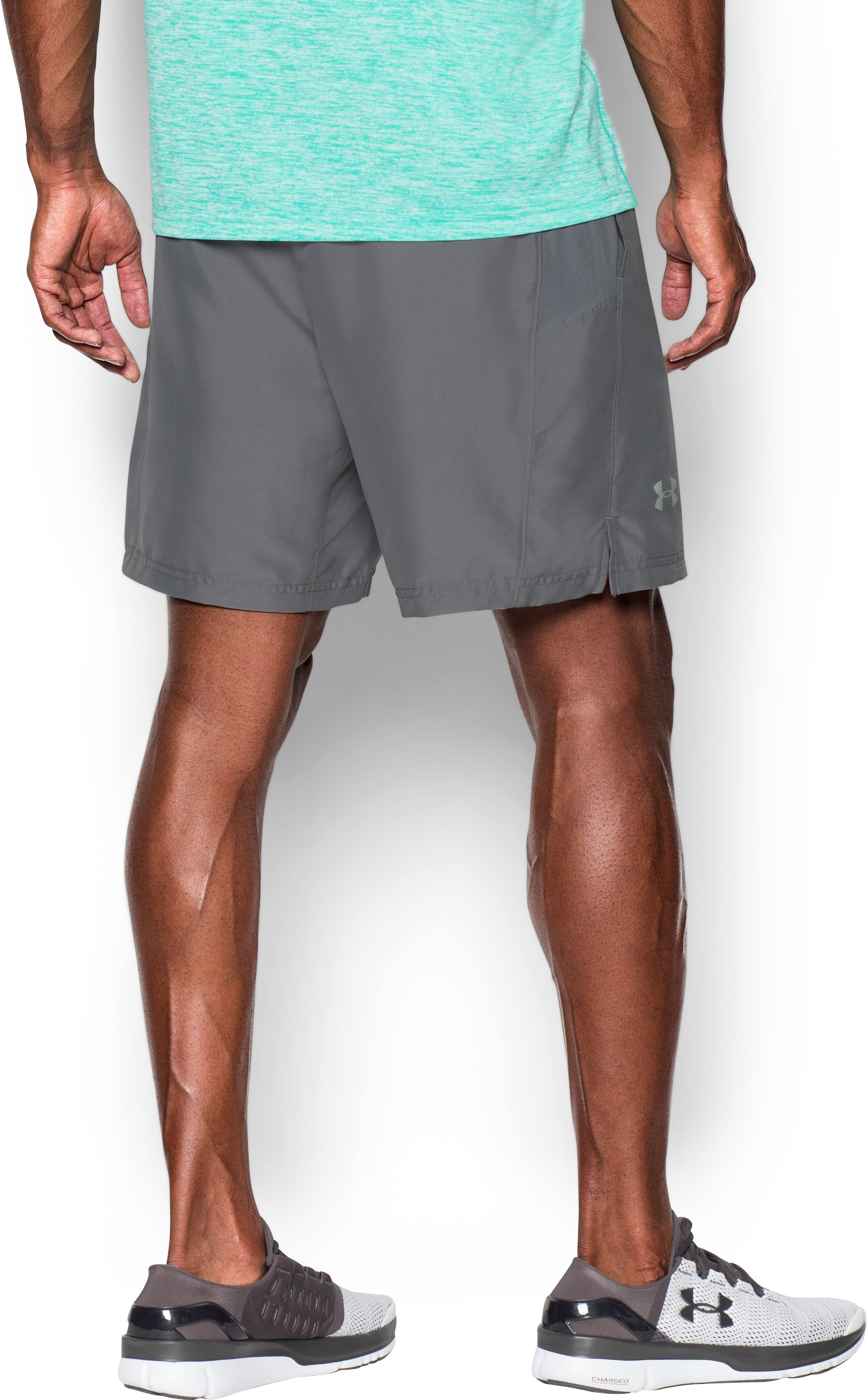 Men's UA Launch Run 2-in-1 Shorts, Graphite,