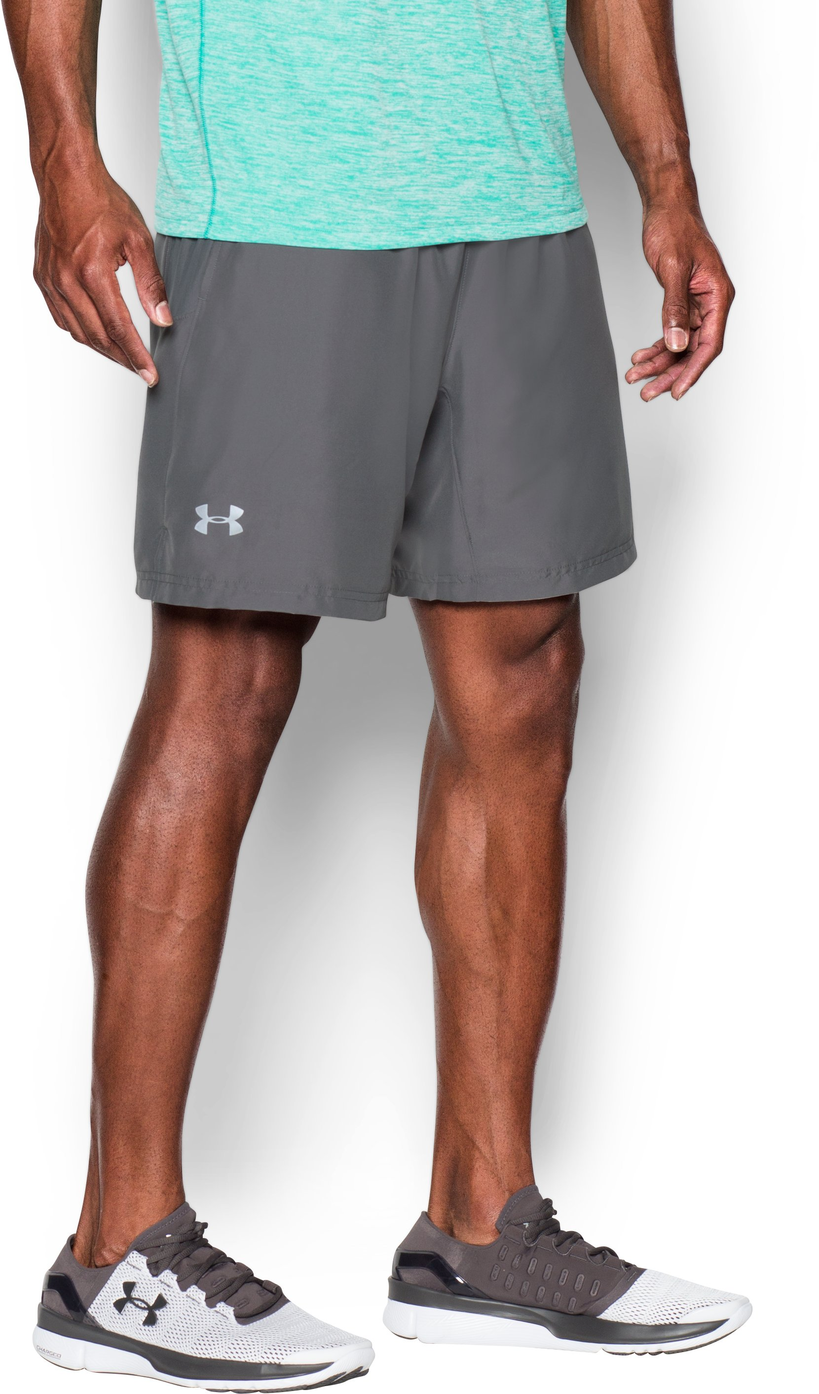 Men's UA Launch Run 2-in-1 Shorts, Graphite