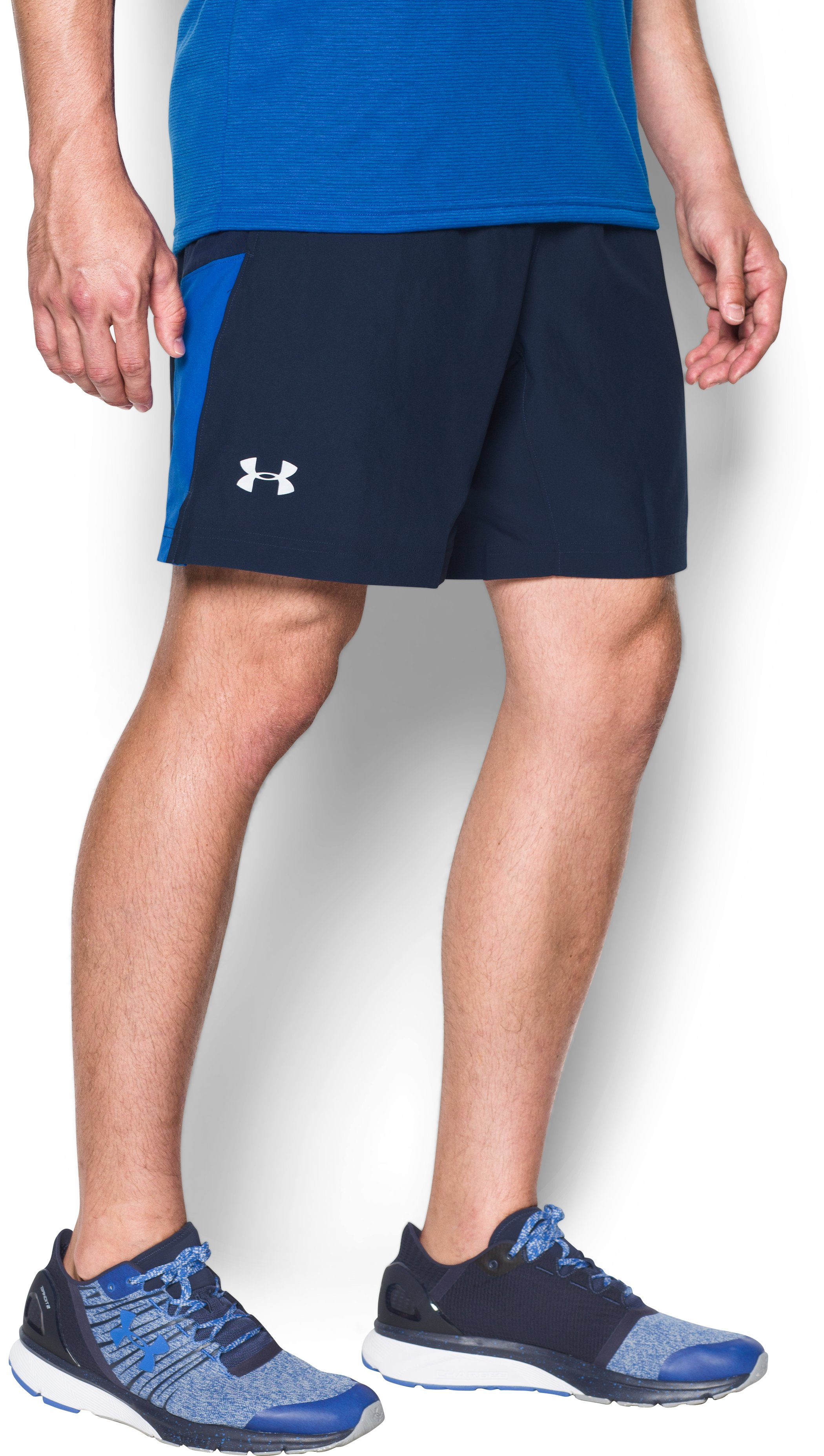 Men's UA Launch Run 2-in-1 Shorts, Midnight Navy