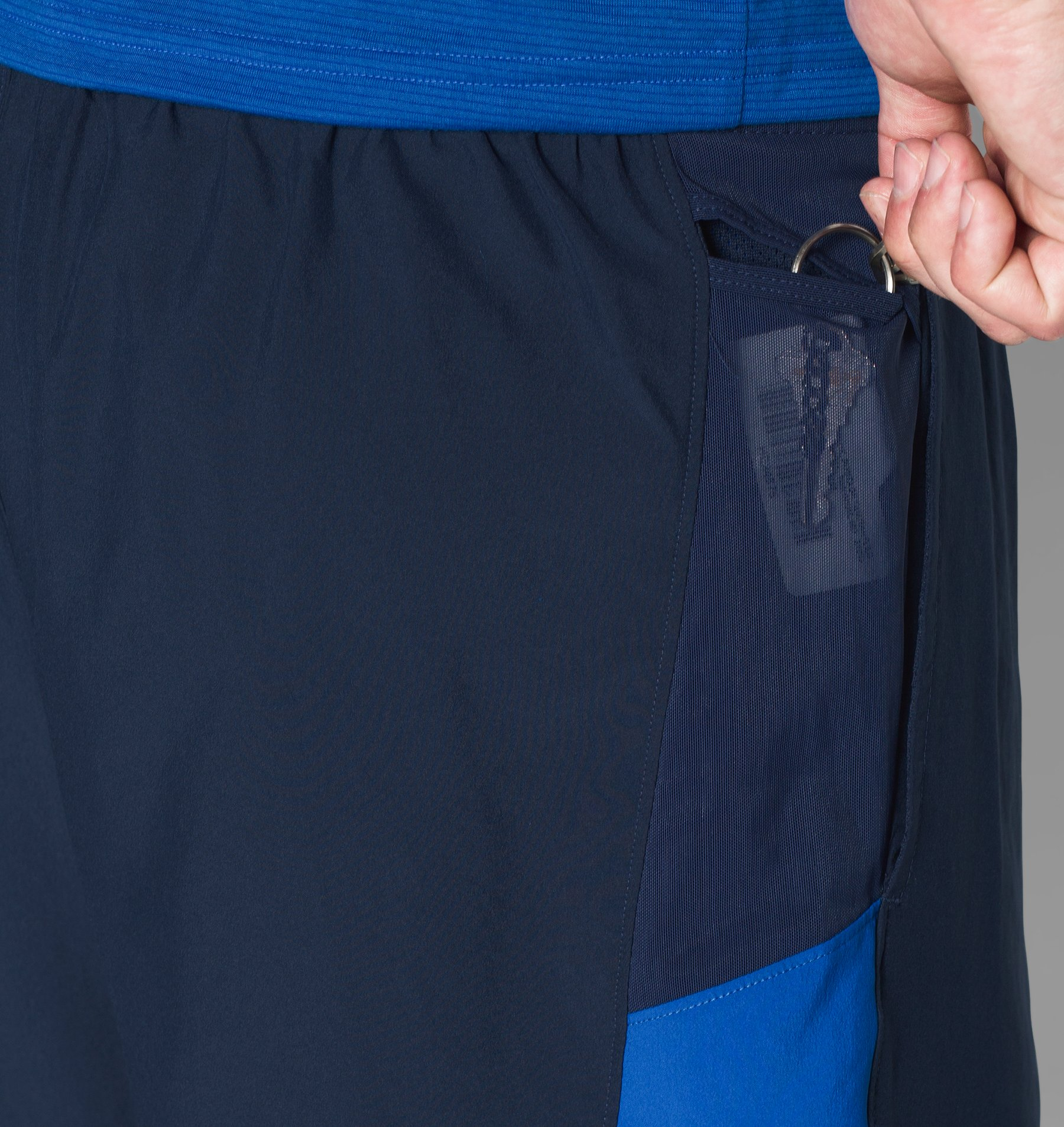Men's UA Launch Run 2-in-1 Shorts, Midnight Navy, undefined