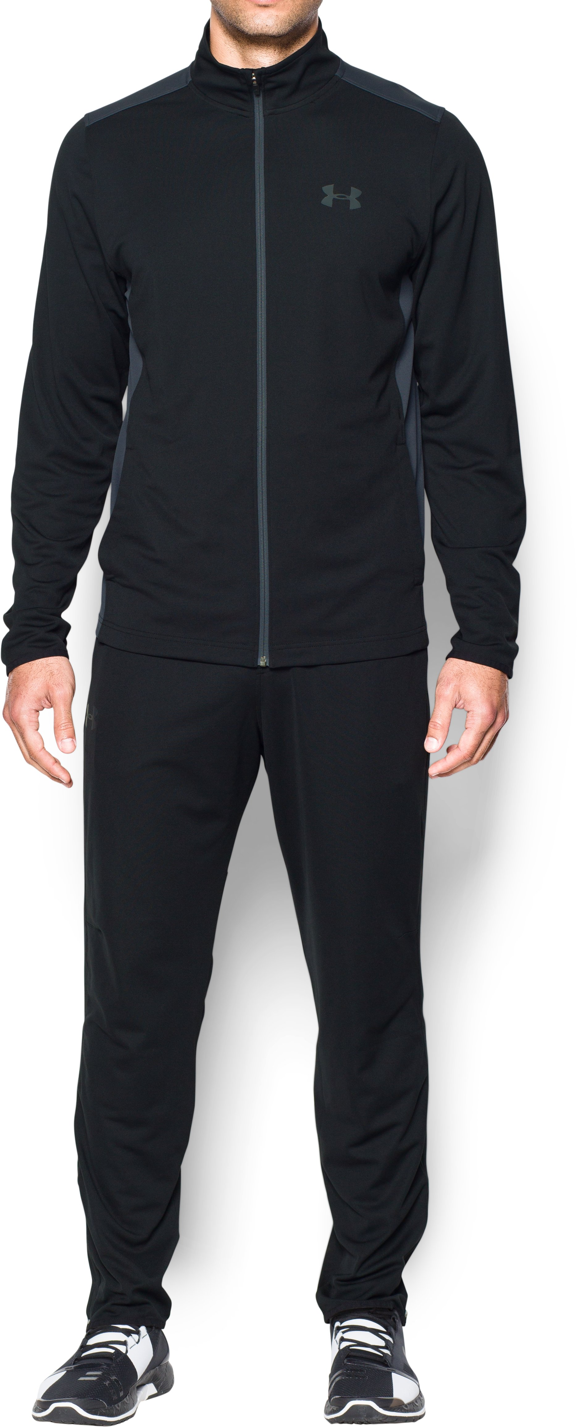 Men's UA Maverick Warm-Up Suit, Black , Front
