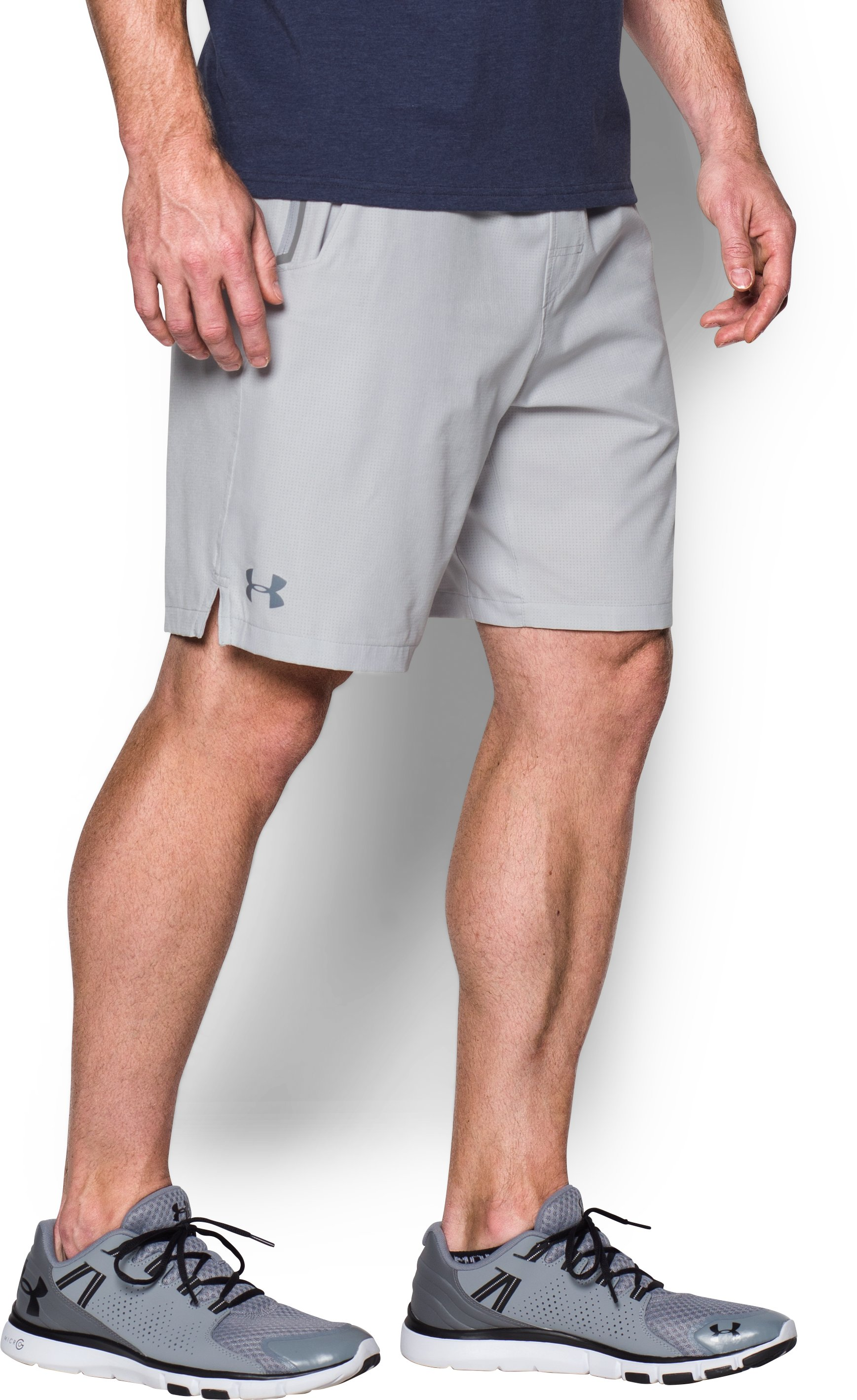 Men's UA Scope Shorts, AIR FORCE GRAY HEATHER