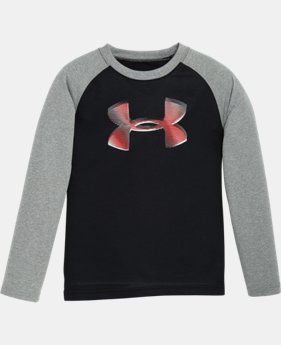 Boys' Pre-School UA Drop Shadow Logo Raglan Long Sleeve  1 Color $17.99