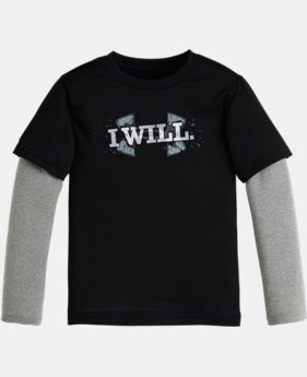 Boys' Toddler UA I Will Big Logo Slider