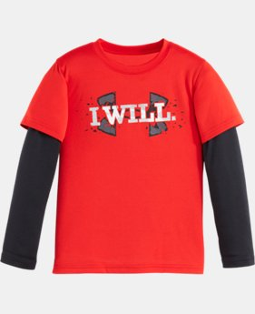 Boys' Pre-School UA I Will Big Logo Slider