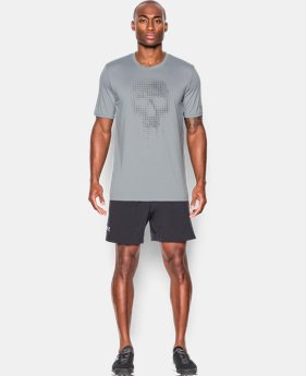 New Arrival Men's UA Run Skull T-Shirt  1 Color $27.99